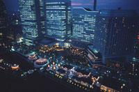 横浜コスモワールド観覧車からの風景 02350001176| 写真素材・ストックフォト・画像・イラスト素材|アマナイメージズ