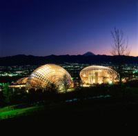 公園と富士山と甲府盆地の夜景 02350001306| 写真素材・ストックフォト・画像・イラスト素材|アマナイメージズ