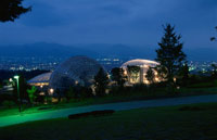 公園と富士山と甲府盆地の夜景 02350001311| 写真素材・ストックフォト・画像・イラスト素材|アマナイメージズ