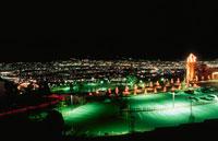 笛吹川フルーツ公園と甲府盆地 02350001315| 写真素材・ストックフォト・画像・イラスト素材|アマナイメージズ