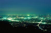 栃木市街の夜景 02350001342| 写真素材・ストックフォト・画像・イラスト素材|アマナイメージズ