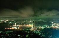 展望台から見た室蘭港の夜景