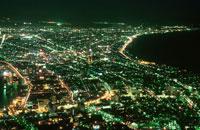 函館山から津軽海峡を望む夜景
