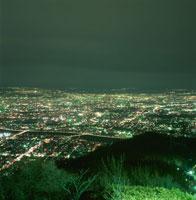 藻岩山山頂から豊平川を望む夜景