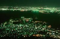 函館山山頂から函館港を望む夜景