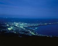 むつ市街とむつ湾を望む夜景