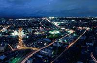 秋田市街の夜景