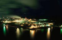 秋田市の土崎港の夜景