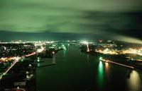 土崎港の夜景