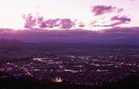 西蔵王公園から山形市を望む夜景 02350001431| 写真素材・ストックフォト・画像・イラスト素材|アマナイメージズ
