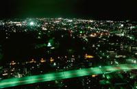 霞城公園と山形市街の夜景