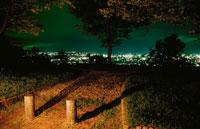 御成山公園から米沢市を望む夜景
