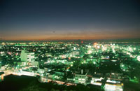 木更津市街の夜景 02350001457| 写真素材・ストックフォト・画像・イラスト素材|アマナイメージズ