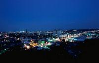 茂原市街の夜景 02350001462| 写真素材・ストックフォト・画像・イラスト素材|アマナイメージズ
