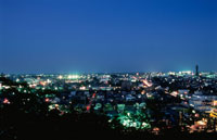 茂原市街の夜景 02350001463| 写真素材・ストックフォト・画像・イラスト素材|アマナイメージズ