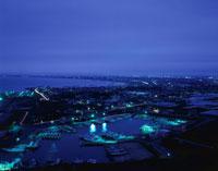 旭市や九十九里を望む夜景 02350001489| 写真素材・ストックフォト・画像・イラスト素材|アマナイメージズ