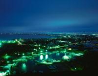 旭市や九十九里を望む夜景 02350001490| 写真素材・ストックフォト・画像・イラスト素材|アマナイメージズ
