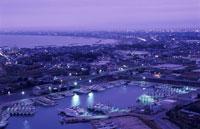 旭市や九十九里を望む夜景 02350001493| 写真素材・ストックフォト・画像・イラスト素材|アマナイメージズ
