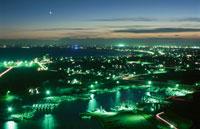 旭市や九十九里を望む夜景 02350001494| 写真素材・ストックフォト・画像・イラスト素材|アマナイメージズ