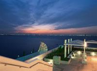 海ほたるから川崎を望む夜景 02350001504| 写真素材・ストックフォト・画像・イラスト素材|アマナイメージズ