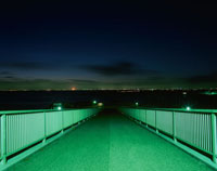 中の島大橋の夜景 02350001506| 写真素材・ストックフォト・画像・イラスト素材|アマナイメージズ
