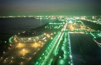 幕張メッセと習志野市と湾岸夜景 02350001516| 写真素材・ストックフォト・画像・イラスト素材|アマナイメージズ