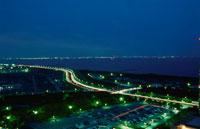 幕張から東京湾を望む夜景 02350001517| 写真素材・ストックフォト・画像・イラスト素材|アマナイメージズ