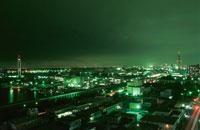 千葉ポートタワーを望む夜景 02350001523| 写真素材・ストックフォト・画像・イラスト素材|アマナイメージズ
