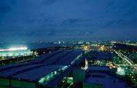 幕張から船橋方面を望む夜景 02350001524| 写真素材・ストックフォト・画像・イラスト素材|アマナイメージズ