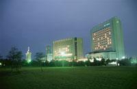 幕張海浜公園とビル群の夜景 02350001527| 写真素材・ストックフォト・画像・イラスト素材|アマナイメージズ