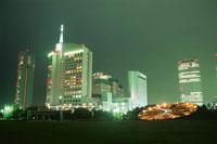 幕張海浜公園とビル群の夜景 02350001530| 写真素材・ストックフォト・画像・イラスト素材|アマナイメージズ