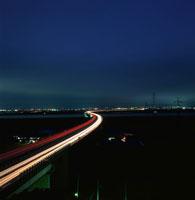 佐原SAと鹿島市方面の夜景 02350001539| 写真素材・ストックフォト・画像・イラスト素材|アマナイメージズ