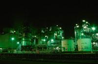 市原市姉崎海岸周辺の工場の夜景 02350001549| 写真素材・ストックフォト・画像・イラスト素材|アマナイメージズ