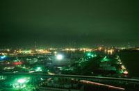千葉の港湾の夜景 02350001562| 写真素材・ストックフォト・画像・イラスト素材|アマナイメージズ