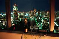 夜景が見える部屋の窓辺 02350001585| 写真素材・ストックフォト・画像・イラスト素材|アマナイメージズ