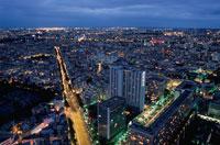 パリの街並みと夜景