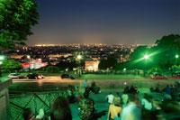 モンマルトルの丘から眺めるパリの夜景