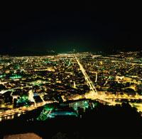 バスティーユ城塞から眺めるグルノーブル市街の夜景