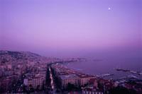 ポジリポの丘から眺めるメルジェッリーナ港の風景