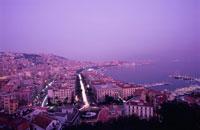 ポジリポの丘から眺めるナポリの風景