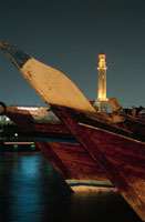 ドバイクリークの渡し舟と夜景