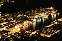 ベルゲン港とベルゲン市街