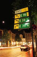 標識と道路