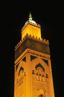 ハッサン2世モスクのミナレット 02350002038| 写真素材・ストックフォト・画像・イラスト素材|アマナイメージズ