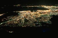 テーブル湾とケープタウン市街