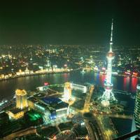 金茂大廈から見た上海の夜景