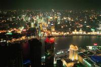 金茂大廈から見た外灘の夜景