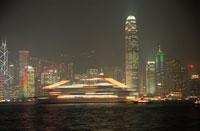 ビクトリア湾と香港島の高層ビル群