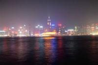 ビクトリア湾と香港島の高層ビル