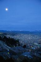 ラパスの街とイリマニ山